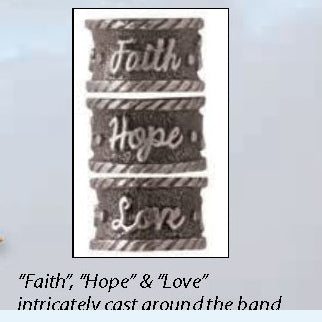 ART-PEN: Handcrafted Luxury Twist Pen - Faith Hope Love - Antique Brass with Bethlehem Olive Wood body