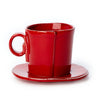 VIETRI: Lastra Red Espresso Cup and Saucer