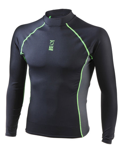 Fourth Element Mens Hydroskin Long Sleeve Top - Black/Green