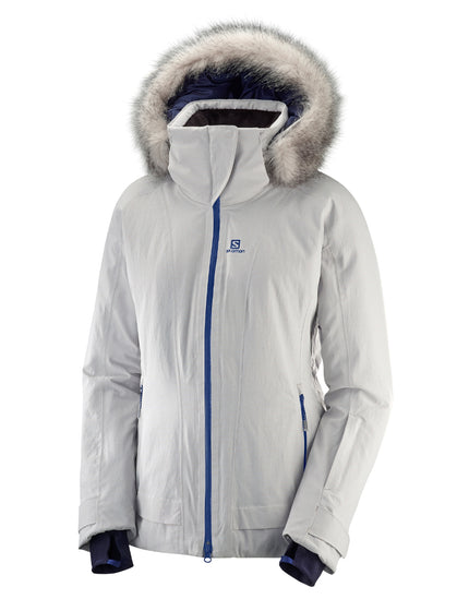 Salomon Womens Weekend Plus Ski Jacket - Vapor Heather