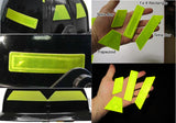 Reflective Fire Helmet NFPA Compliant Decals - Fluorescent Lime