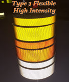 Conformable High Intensity Reflective Type 4 Tape Orange White Yellow