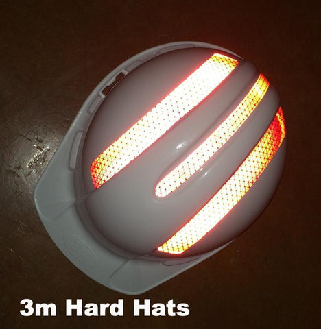 Reflective 3m Hard Hat Decals (Single 3m Hard Hat Kit) - 5 Colors