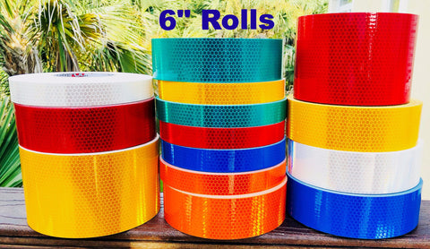 "6"" High Intensity ""Prismatic"" Type 4 Reflective Tapes - 150' Rolls"