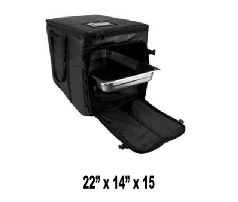 UP-CLGPCSX - Full Size Heavy Duty Multi Pan Carrier/Restaurant Delivery Bag, Top & Side Loading (Packed 2 Per Case -- Unit Price: $57.60) - Ultimate Pizza Bag