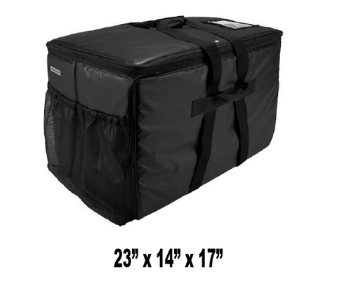 UP-LPTXL - Large Heavy Duty Catering Pan Carrier Bag, Black (Price Delivered Packed 2 Per Case -- Unit Price: $65.99) - Ultimate Pizza Bag