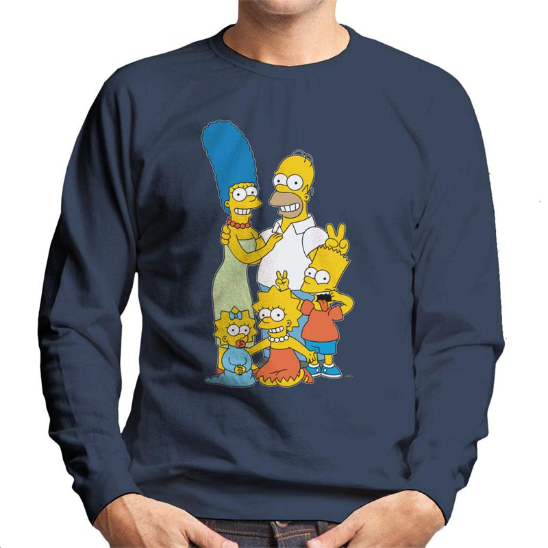 The Simpsons Silly Photo Men's Sweatshirt - POD66