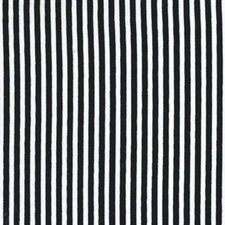 Black and White Stripe 1/4 inch