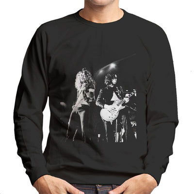 Led Zeppelin Jimmy Page Robert Plant Cardiff Capitol Theatre 1972 Men's Sweatshirt - Don't Talk To Me About Heroes
