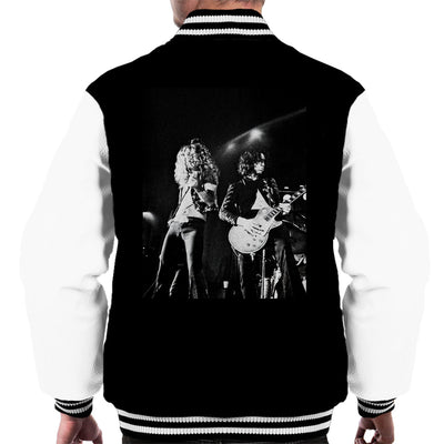 Led Zeppelin Jimmy Page Robert Plant Cardiff Capitol Theatre 1972 Men's Varsity Jacket