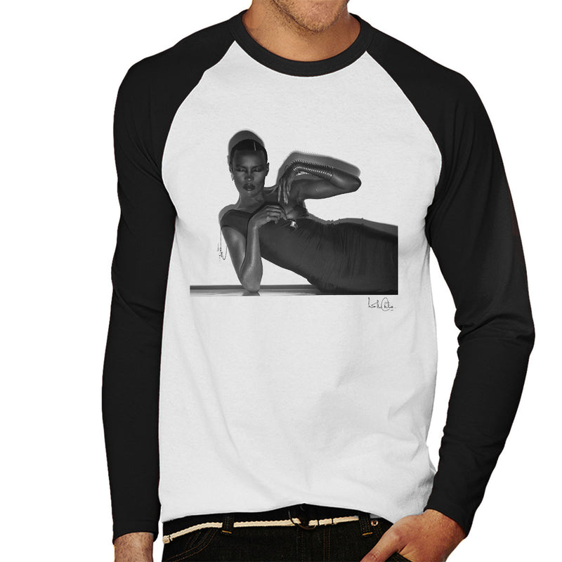 Grace Jones 1974 Men's Baseball Long Sleeved T-Shirt