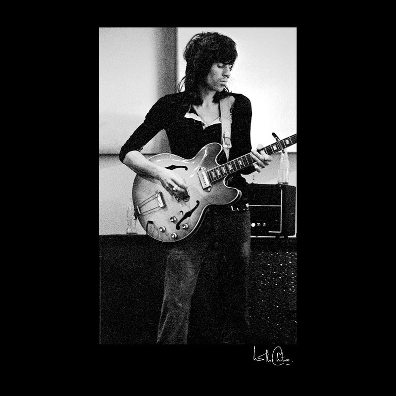 Rolling Stones Keith Richards Playing Guitar