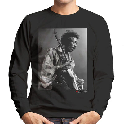 Jimi Hendrix At The Royal Albert Hall 1969 B&W Men's Sweatshirt - Don't Talk To Me About Heroes