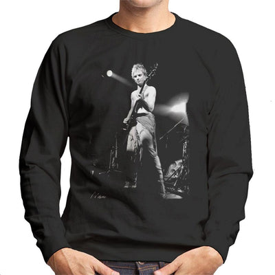 Sting On Bass Live The Police Men's Sweatshirt - Don't Talk To Me About Heroes