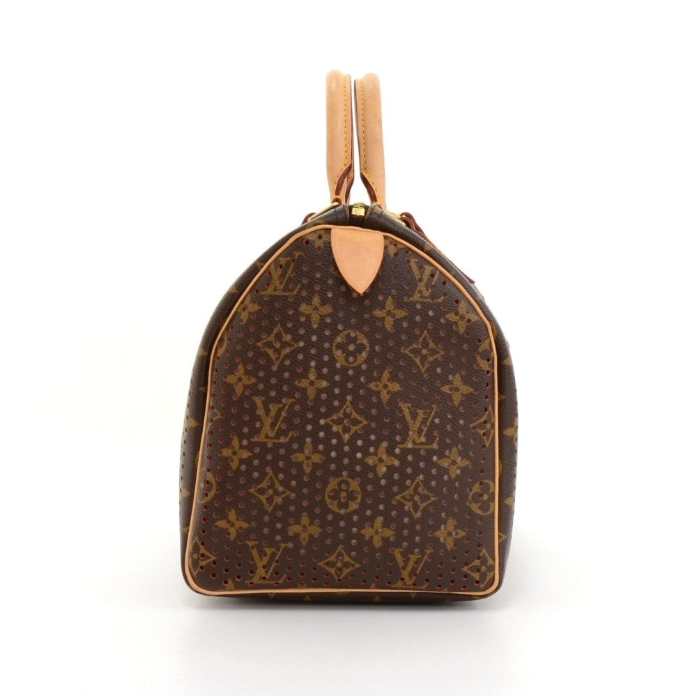 Perforated Speedy 30 Monogram Canvas Handbag - 2006 Limited Edition Bag