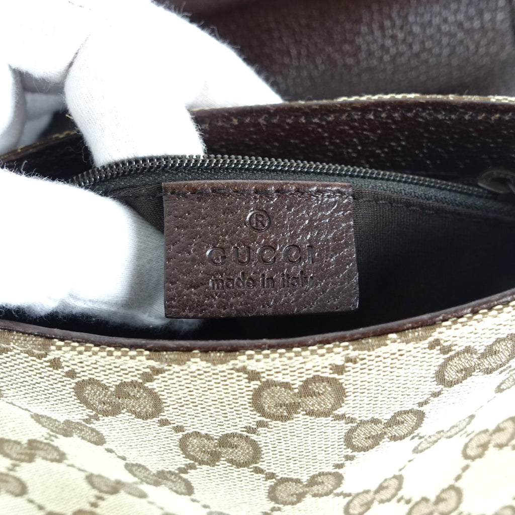 Leather and Monogram Canvas Belt Bag