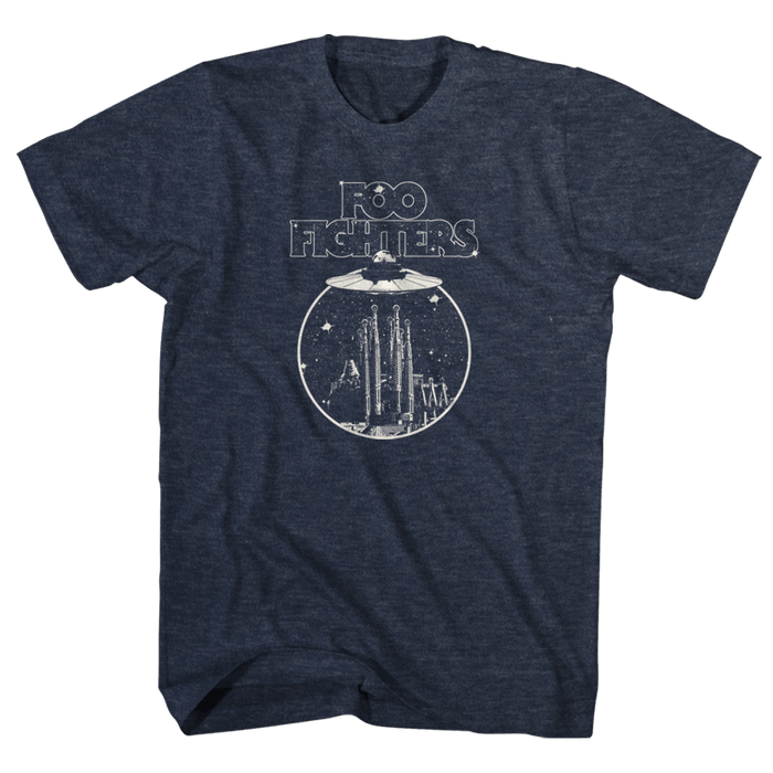 Abduction Heather Navy Tee - Foo Fighters