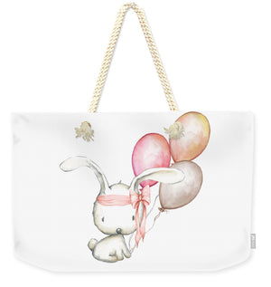 Boho Bunny With Balloons - Weekender Tote Bag