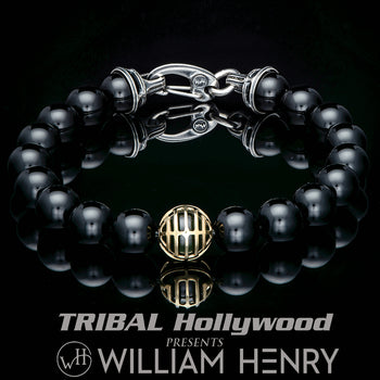 William Henry Midnight Hour Bead Bracelet With 18k Gold