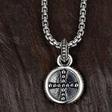 UnKaged GOTHIC CROSS ROUND PENDANT Scott Kay Mens Sterling Silver Necklace