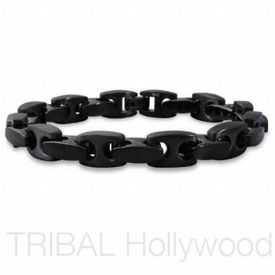 SCORPION Gunmetal Stainless Steel Men's Anchor Chain Link Bracelet