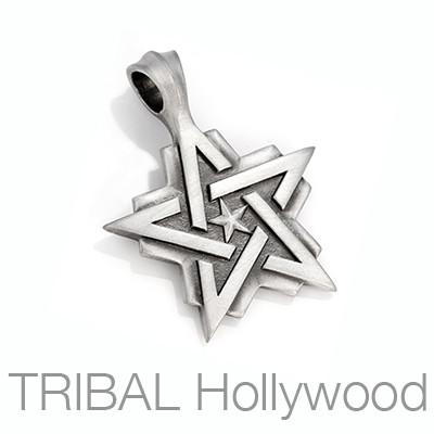 Bico Pentastar Life Journey Star Mens Necklace Star Pendant