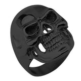 Tribal Hollywood Skull Ring Metal Mania Black IP Steel Metal Meltdown Alt View