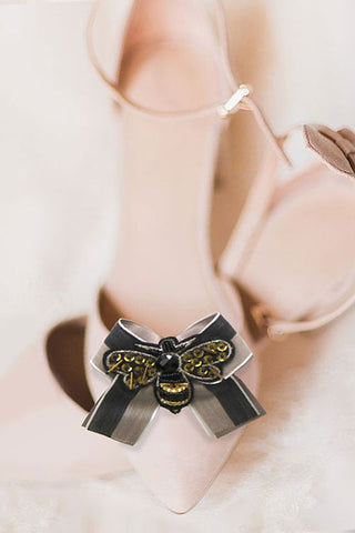 Fashion Bee Bow Strap Shoe Accessory