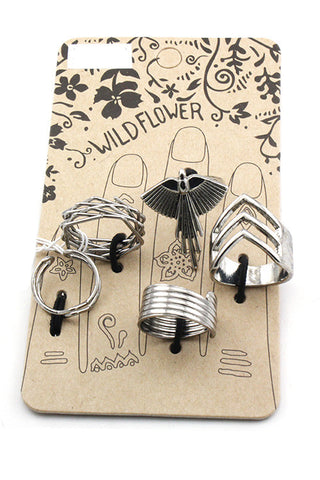 (2PCS) Multi Ring Set