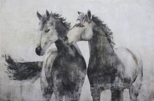 Horse Friends on Canvas