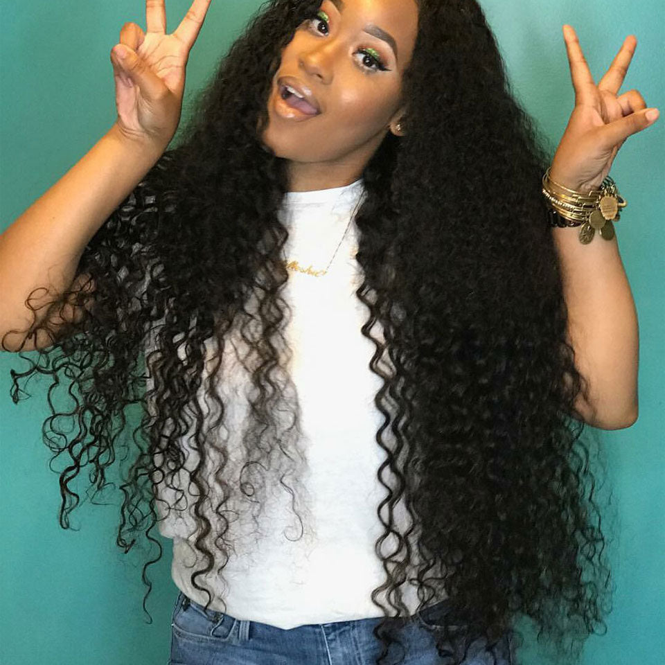 4 Bundles Malaysian Deep Wave Curly Thanksgiving Deals-Donmily Hair