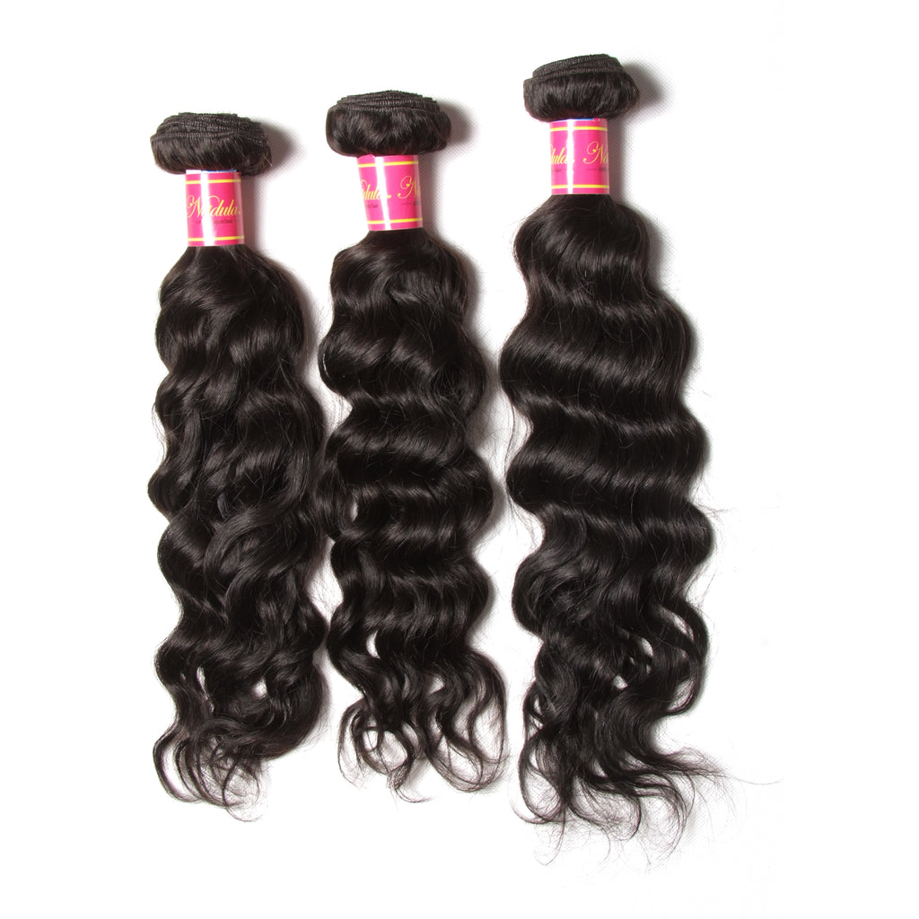 9A Grade Virgin Malaysian Natural Wave 3 Bundles, 100% Unprocessed Human Hair Weave Extensions