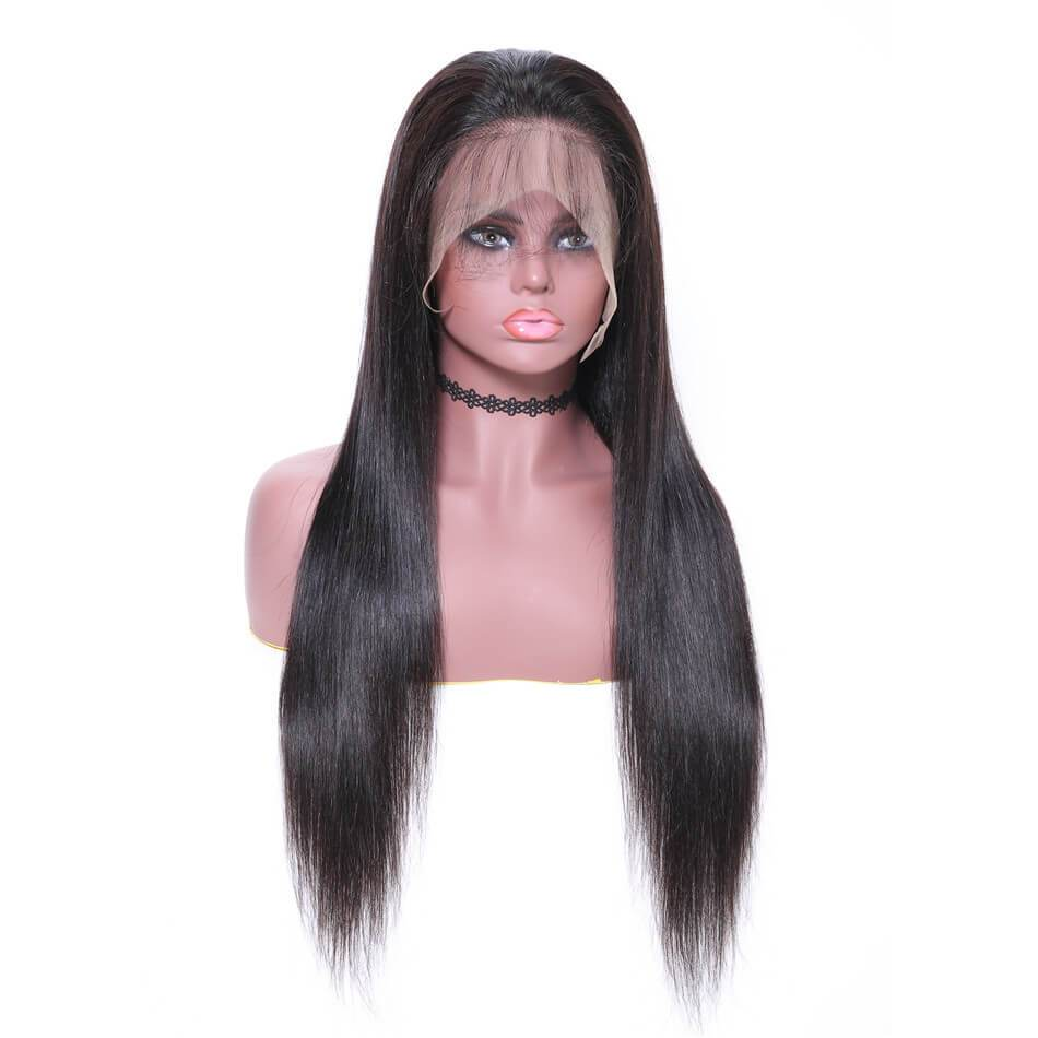 360 Lace Wig Silky Straight 150% & 180% Density Black Color, Virgin Hair Wigs 12-28 Inch-Donmily Hair