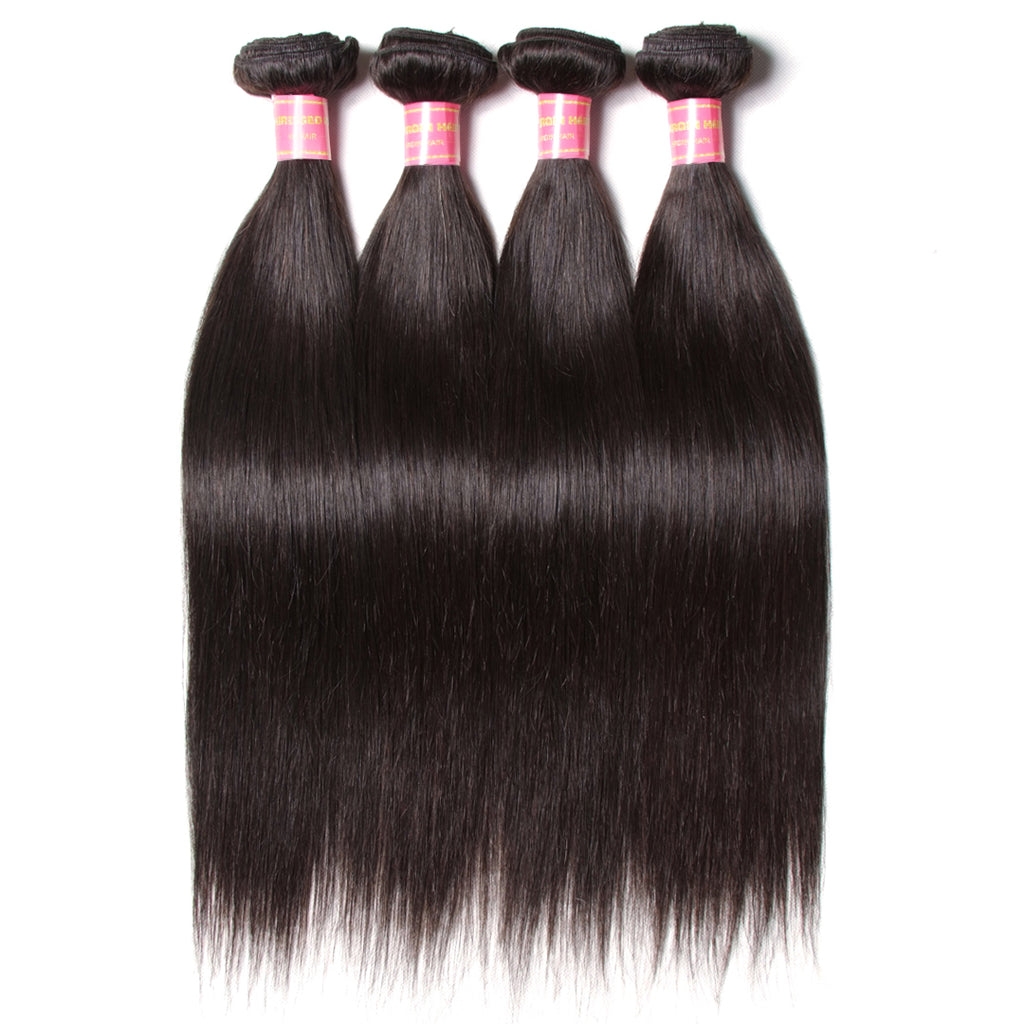 Donmily Malaysian Straight Hair 3 Bundles. 100% Virgin Human Hair Weave Extensions