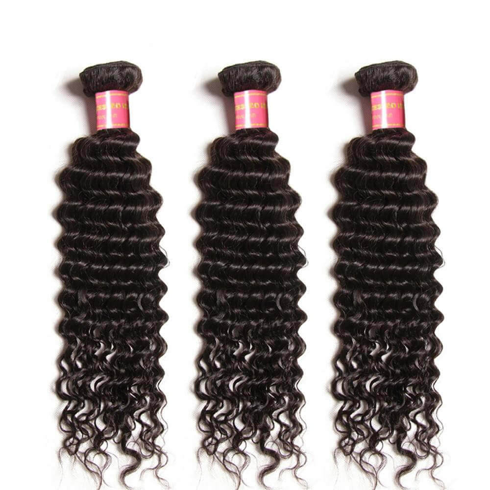 Donmily 9A Unprocessed Virgin Brazilian Deep Wave Hair 3 Bundles Human Hair Weave