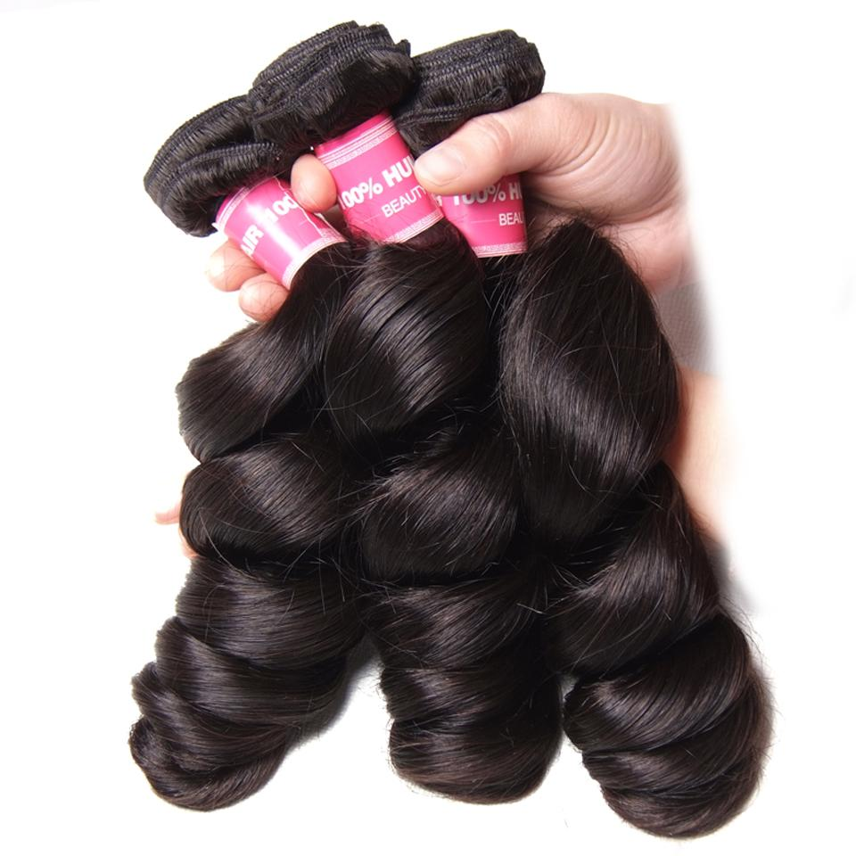 Donmily Indian Loose Wave Human Virgin Hair 3 Bundle Deals Best Indian Hair Extensions