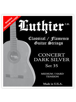 Luthier #35 Concert Dark Silver Nylon Set - Medium/Hard Tension - INTRODUCTORY SPECIAL