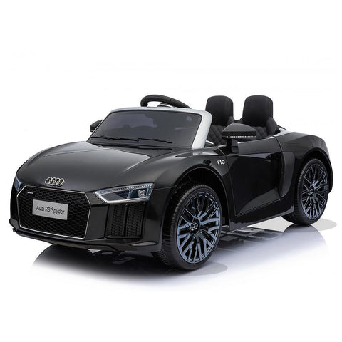 Licensed 12V Black Audi R8 Spyder Kids Battery Ride On Car