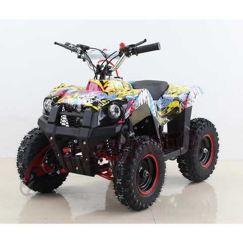 Hawkmoto Mini Explorer 49cc Kids Quad Bike - Sticker Bomb 2