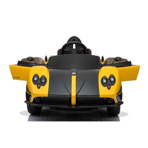 Licensed Pagani Zonda Cinque Roadster 12v Kids Ride on Electric Car With Remote Control - Yellow 3