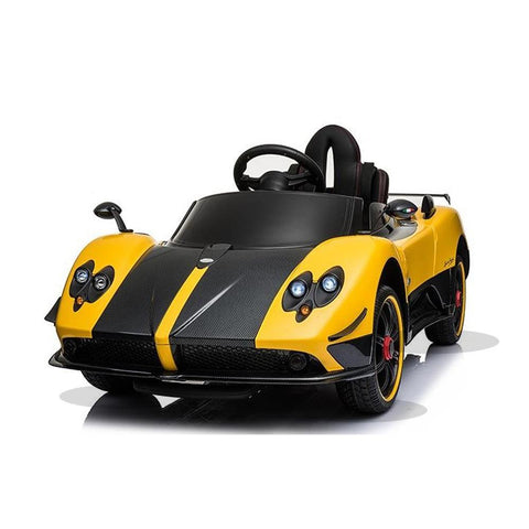 Licensed Pagani Zonda Cinque Roadster 12v Kids Ride on Electric Car With Remote Control - Yellow
