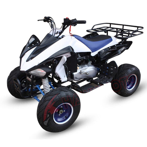 Hawkmoto Raider 150cc CVT Quad Bike Blue and White