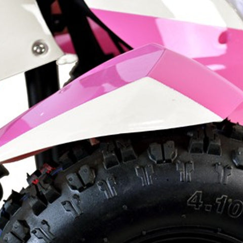 49cc Zipper Petrol Mini Quad Bike - Pink & White 1