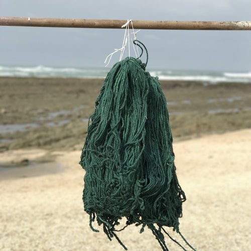 Hand Spun Middle Atlas Wool, 2-ply, Green 43