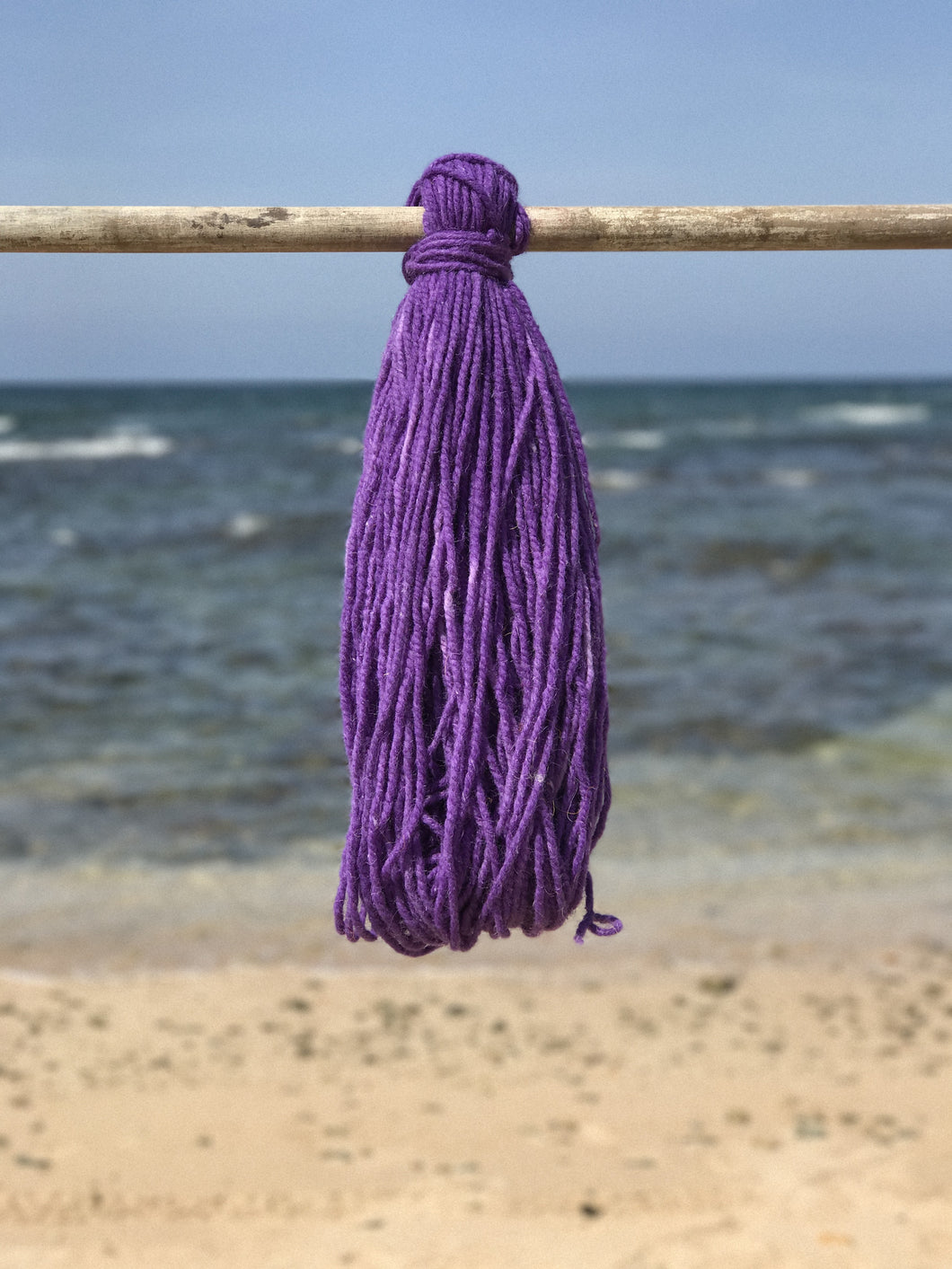 Hand Spun Middle Atlas Wool, Singles, Purple 9A L1 XG UU YB