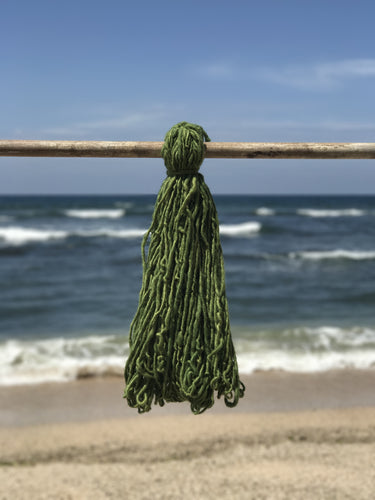 Hand Spun Middle Atlas Wool, Singles, Green 5