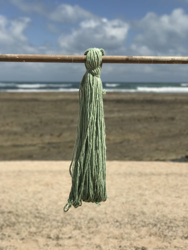 Hand Spun Middle Atlas Wool, Singles, Green 4