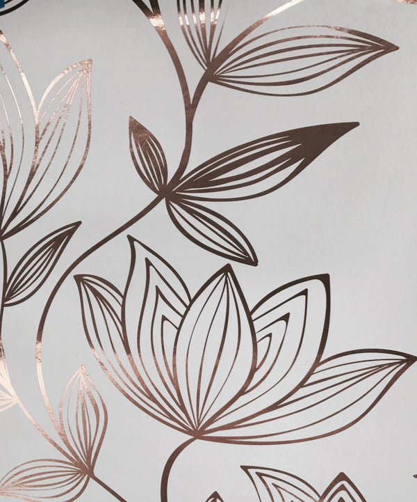 Metallic Wild Magnolia Wallpaper