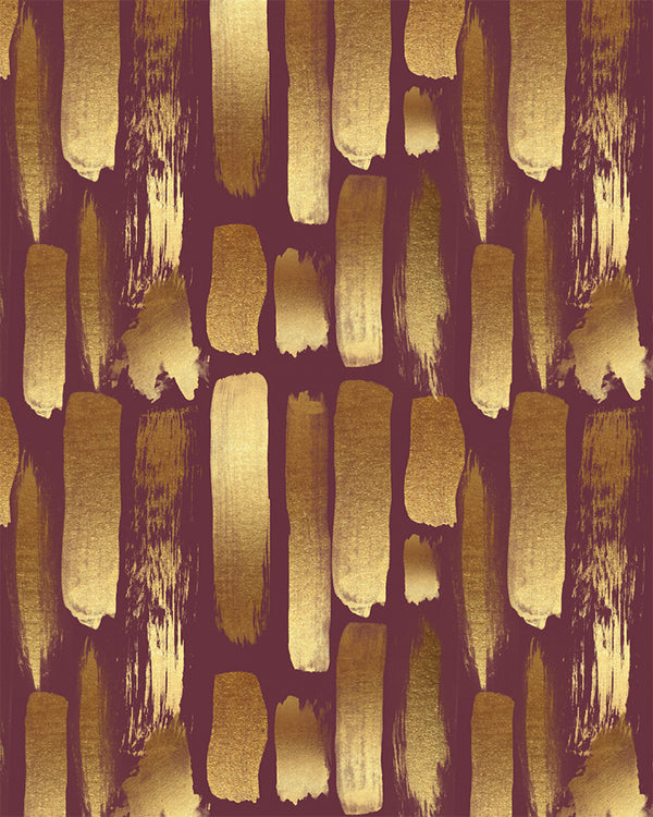 Metallic Brushstroke Wallpaper