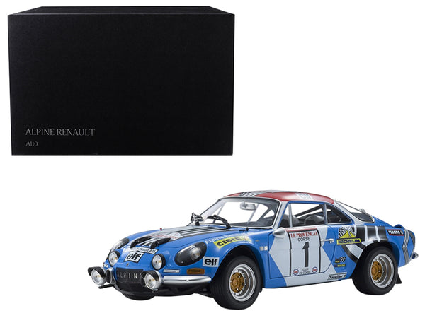 Renault Alpine A110 #1 Jean-Pierre Nicolas/ Michel Vial Winners 1973 Tour de Corse Rally 1/18 Diecast Model Car by Kyosho